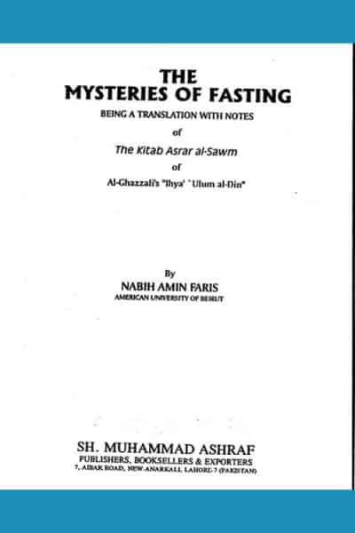 The Mysteries Of Fasting