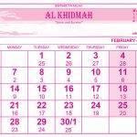 Rajab 1441 Calender